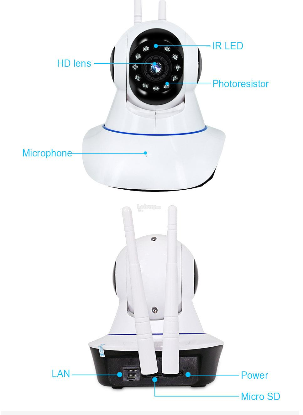 720P/1080P High Resolution IP Camera With Loud Sirens Speaker