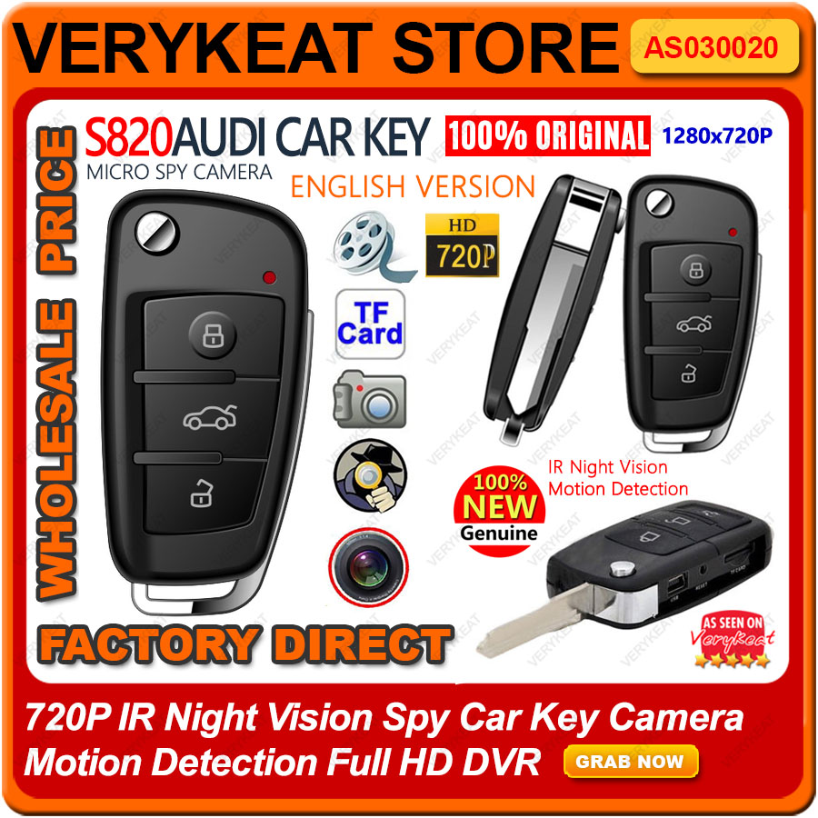 720P IR Night Vision Spy Car Key Camera Motion Detection Full HD DVR
