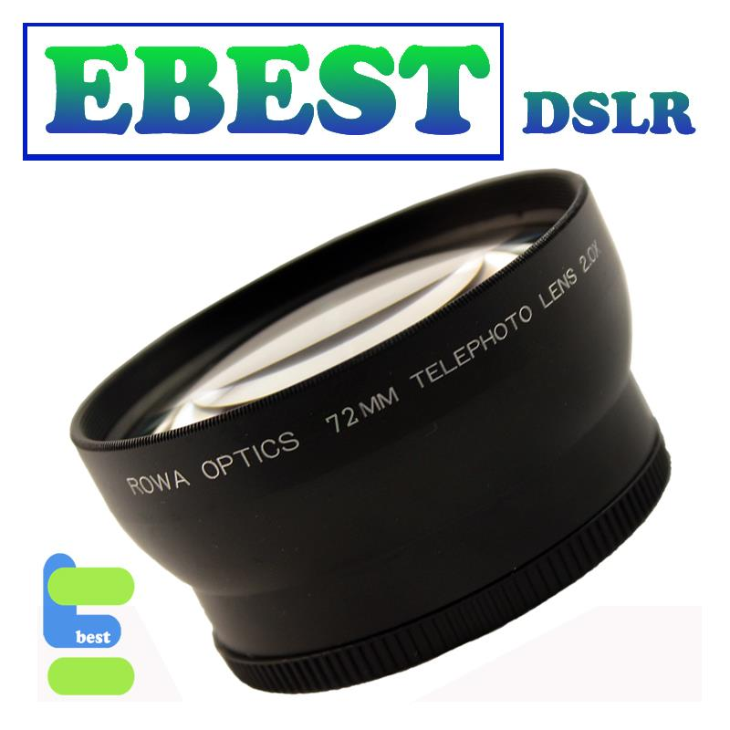 72MM ROWA Optics 2.0X Tele Telephoto Converter lens for DSLR Camera