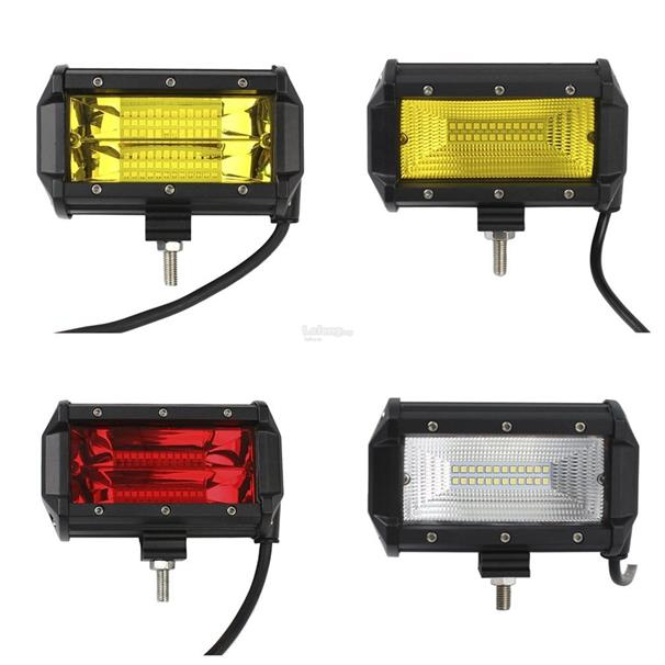 72W Two Rows Waterproof LED Light Bar Vehicle Searchlight For Off-road