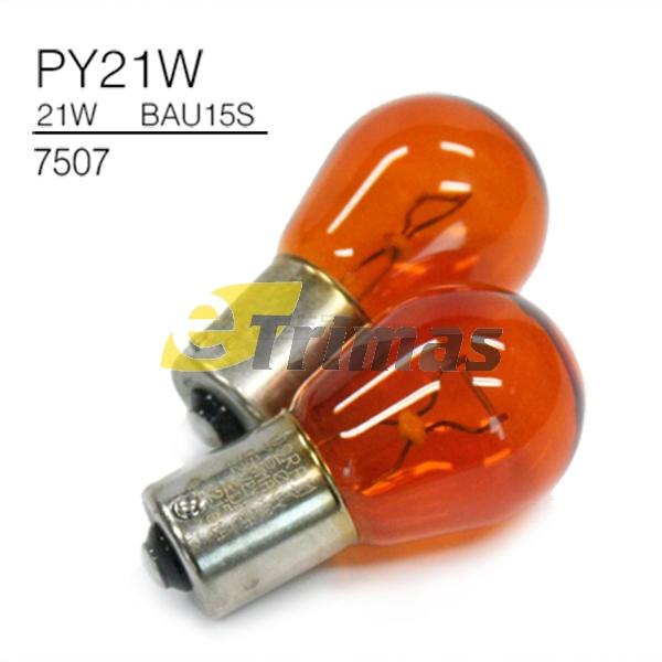 7507 Osram PY21W BAU15S Amber Signal Bulb (2PCS)