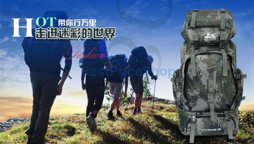 84caba602d91 75L Big Military Tactical Outdoor Climbing Camping Hiking Backpack Bag