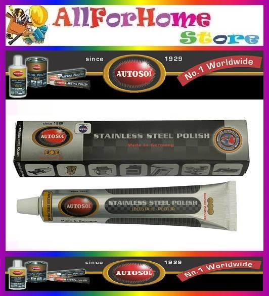 75ml autosol stainless steel polish specialist for chrome u0026 ssteel