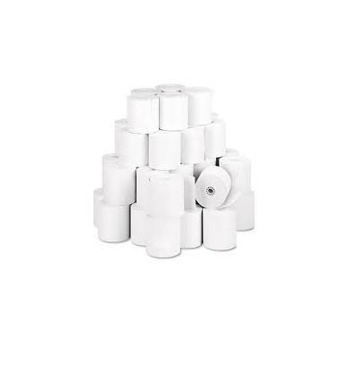 76mm x 65mm Woodfree White Paper Roll (100 Rolls) Delivery F.O.C