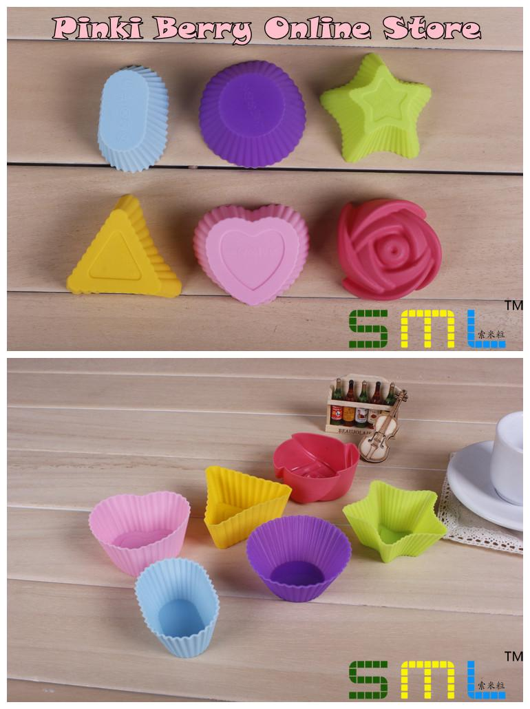 7cm Colorful Silicone  Design Cake / Soap / Ice Mold Set  BC006