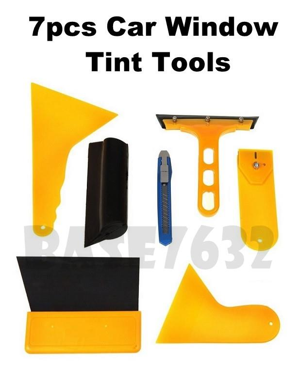 7pcs Car  Window Film Tinting Tint Scraper Tool Tools Kit Set