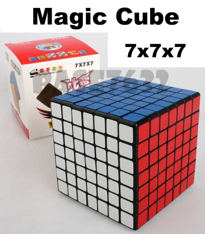 7x7x7 7x7 Magic Cube Puzzle Fast Speed Twist Turning Black Kid Toy
