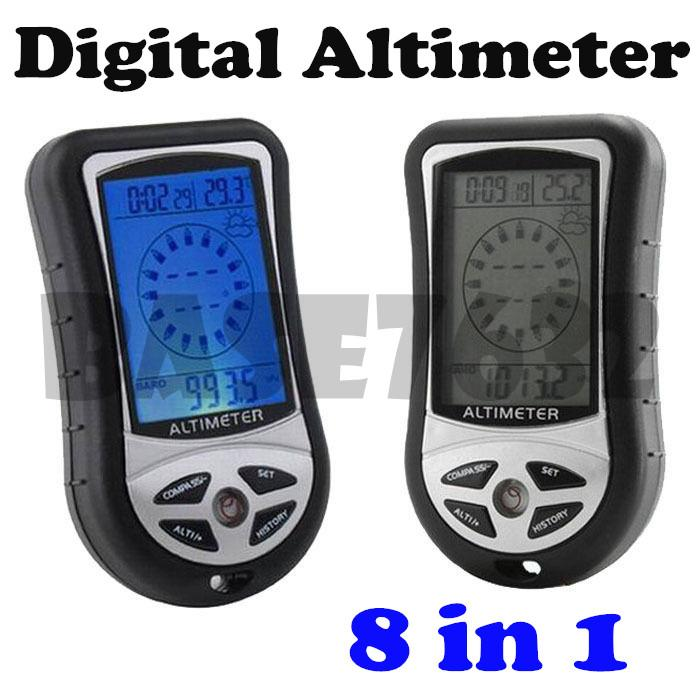 8 in 1 Digital Compass Altimeter Barometer Thermometer Moutain