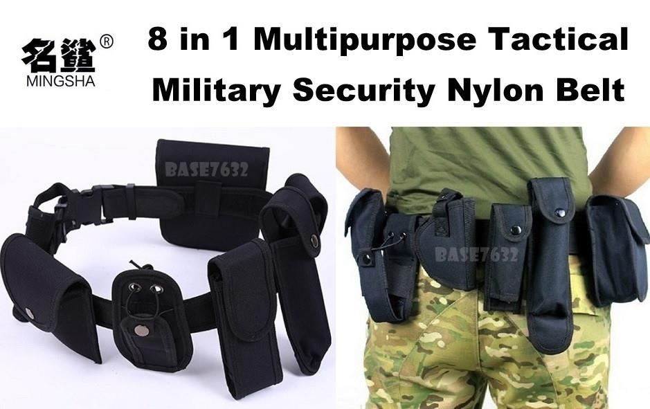8 in 1  Multipurpose Utility Military Army Security Nylon Belt