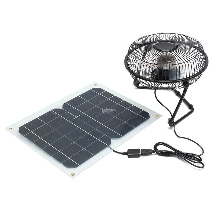 8 12w usb solar panel fan powered o end 9 12 2018 8 15 pm. Black Bedroom Furniture Sets. Home Design Ideas
