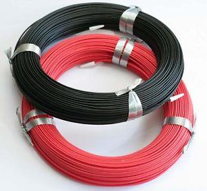 8~22 AWG Soft and Flexible Silicone Wire BLACK and RED - By The Meter