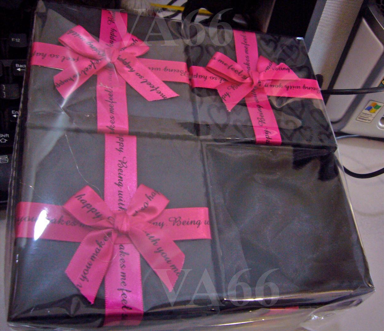 8 Black N Pink Jewelry Gift Box Square Bracelet No Window Bracelet