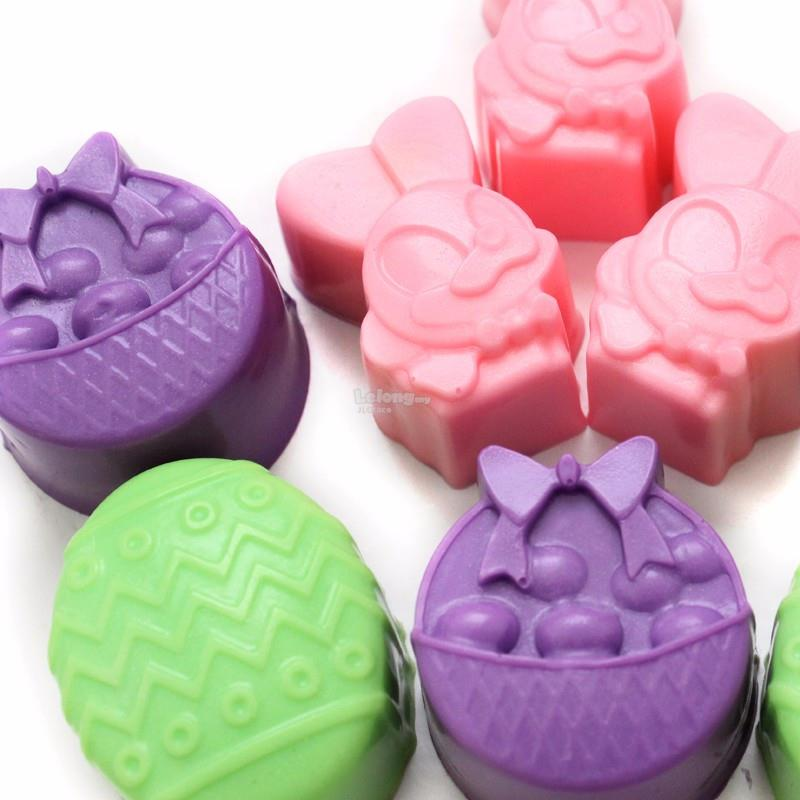 8 Cavities Bunny Easter Egg Silicone Soap Jelly Cake Mould Mold