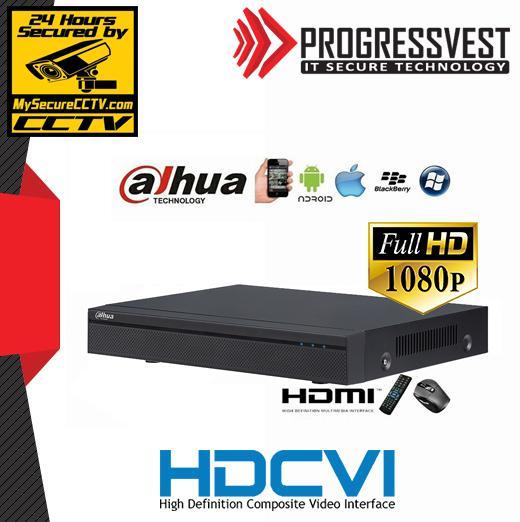 8 Channel HDCVI DVR 1080P CCTV Cloud Ready
