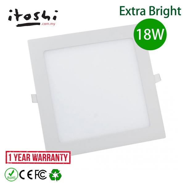 8 Inch 18W Led Ceiling Light High Lumen Square Daylight 6500K 10pcs