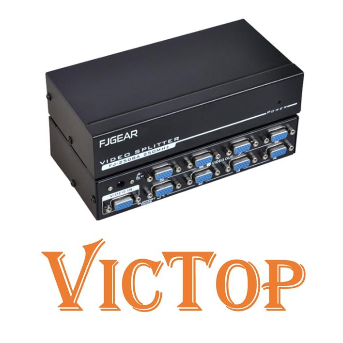 8 Port 250Mhz Auto VGA Splitter for Projector Monitor Film and TV