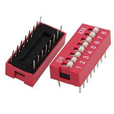 8 Positions 2 Row 16 Pins 2.54mm Pitch DIP Switch