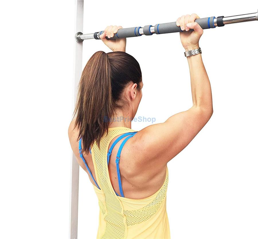 80-130cm 200kg Pull Up Chin Up Door Gym Bar-Doorway Arm Workout Muscle