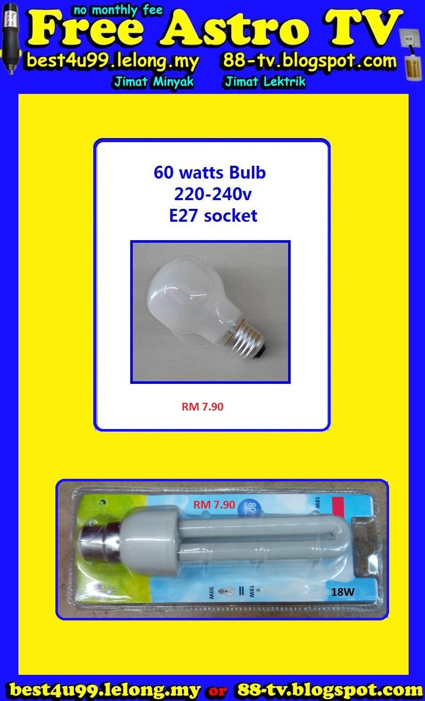 80% Energy Saver Saving Lamp Bulb 18W Light Jimat Lektrik & 60watt RM8