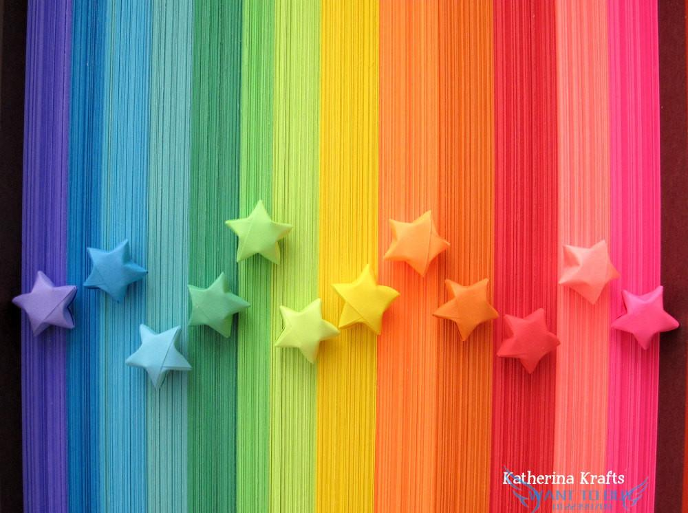 Origami Stars Papers 1, 000 Paper Strips in Assorted Colors: 10 ... | 746x1000