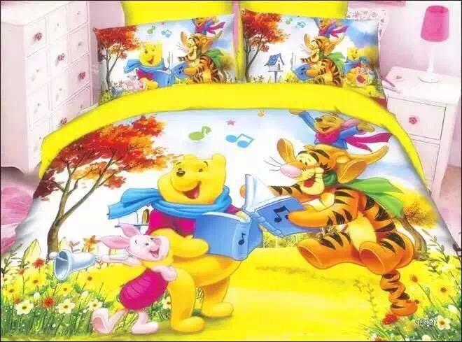 800 Thread Count Fitted Bed Sheet Set(Winnie The Pooh Series)