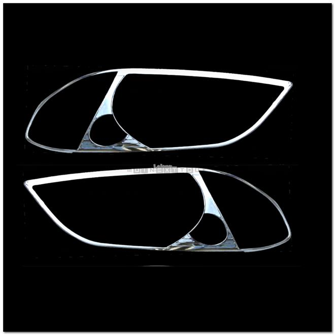 [8023] Toyota Vios 02-07 Chrome Head Light Trim Lamp Rim Cover Overlay