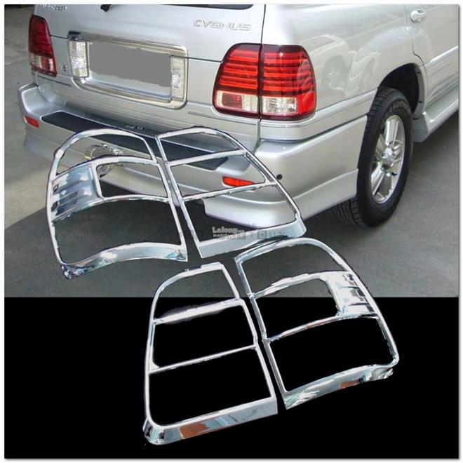 [8049N] For Toyota Land Cruiser Fj100 Chrome Tail Light Trim Rear Lamp