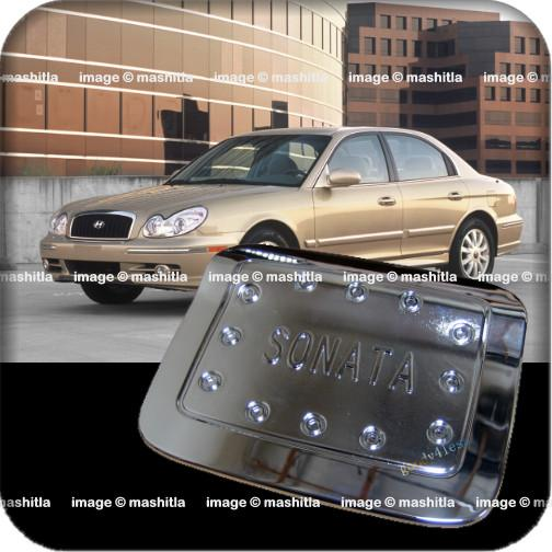 8054 Hyundai Sonata Gold Chrome Fuel Oil Gas Tank Door Cover Newface