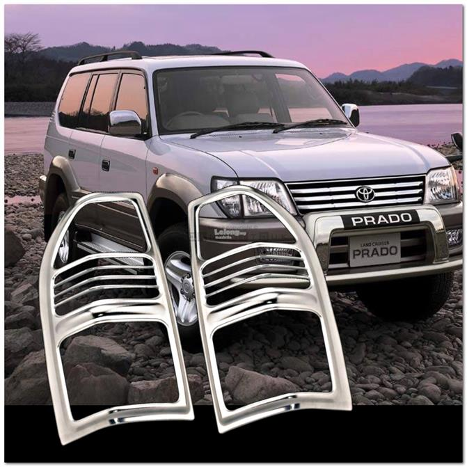 [8065] For Toyota Land Cruiser Fj90 96-02 Chrome Tail Light Trim Rear