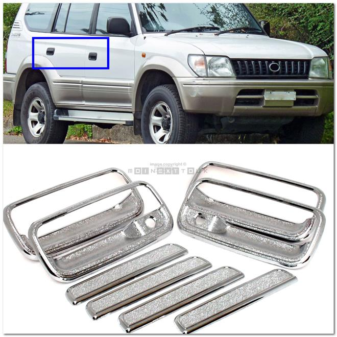 [8082B] Toyota Land Cruiser Fj90 96-02 Chrome Door Handle Cover Trim (
