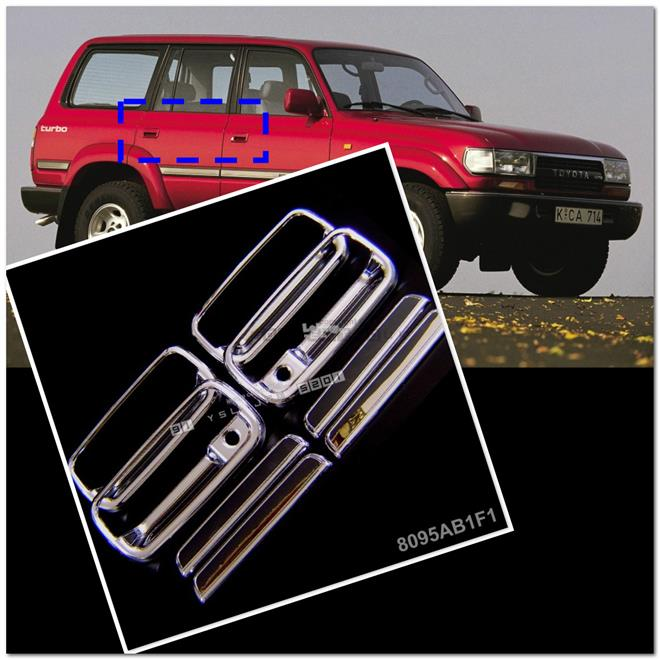 [8095] For Toyota Land Cruiser Fj80 90~98 Chrome Door Handle Cover Tri