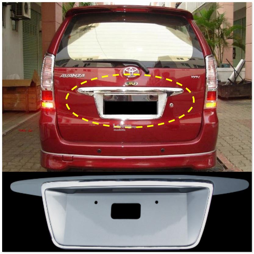 [8099 ] Toyota Avanza Chrome Rear Tailgate License Plate Frame Back Co