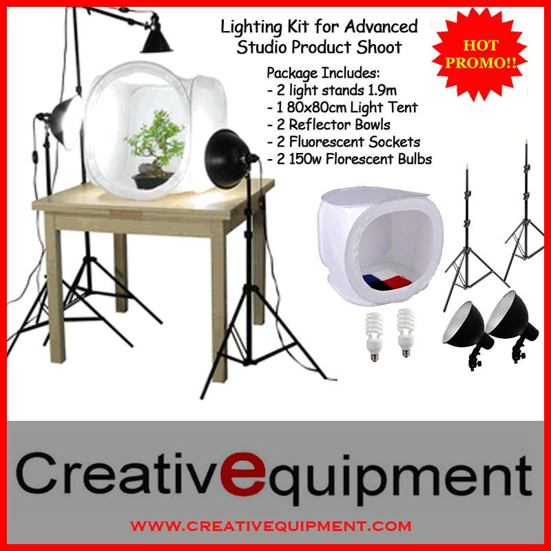 New 80cm Home Studio Light Tent with 150W Table Light/Tent Kit 5500K