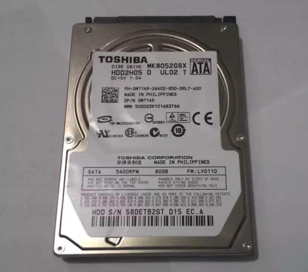 80GB 2.5' SATA Laptop Notebook Hard Disk HDD 5400RPM Mix Brand