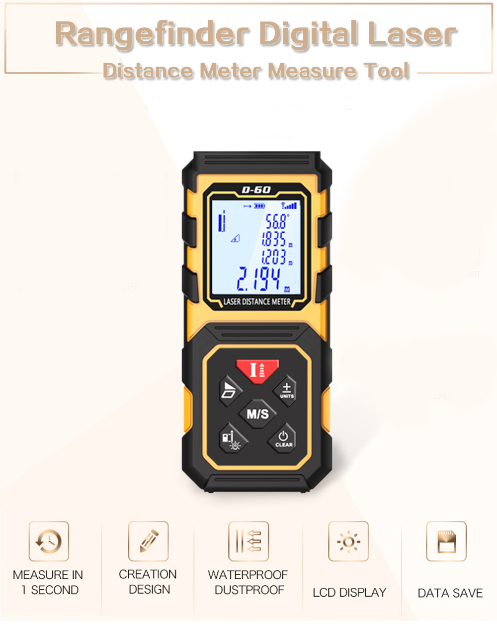 80M Laser Rangefinder Distance Meter Digital Measure