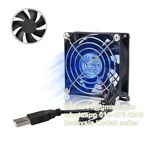 80mm Fan Silent USB Powered Computer 8cm Router Android TV Box