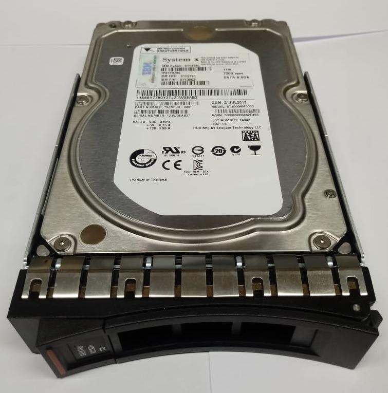 "81Y9791 / 81Y9790 - IBM 1TB 7.2K RPM 6G 3.5"" NL SATA G2 HOT-SWAP (REF)"