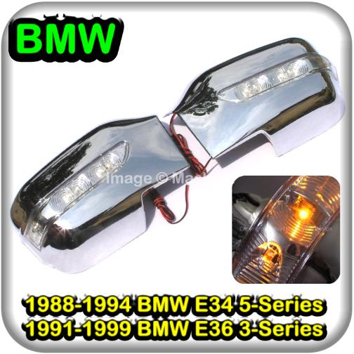 [8228] BMW E34 5 Series E36 3 Series Chrome Door Mirror Co