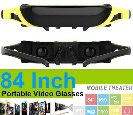 84 inch HD Virtual Video Glasses With IPD Adjustment (WSG-10).