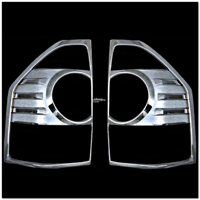[8469] Mitsubishi Pajero Chrome Tail Light Trim Rear Lamp Rim Cover Ov