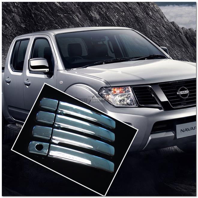 [8668 ] For 4Dr Nissan Navara Frontier D40 Chrome Door Handle Cover Tr
