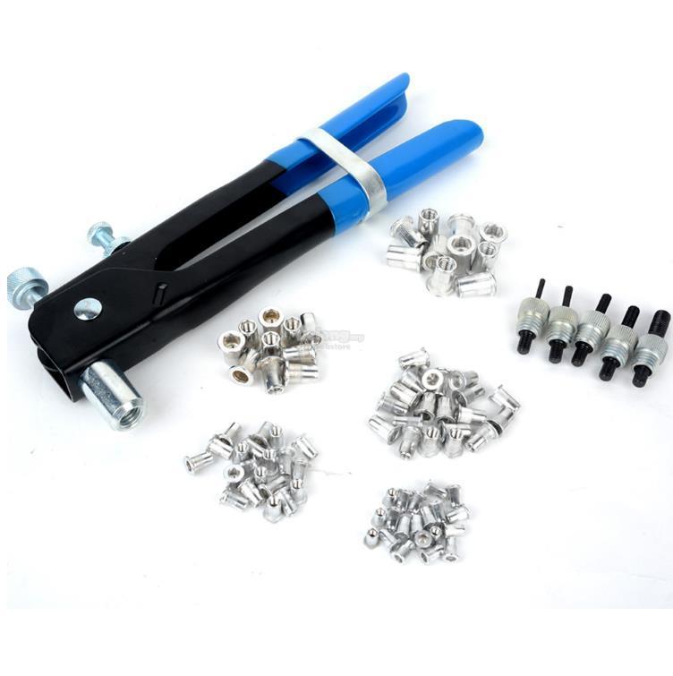 86pcs Nut Rivet Tool Kit Threaded Nut M3-M8 Insert Riveter Rivnut Nuts
