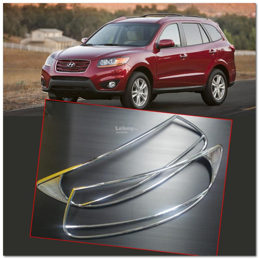 [8753] For Hyundai Santa Fe 07~12 Chrome Head Light Trim Front Lamp Ri