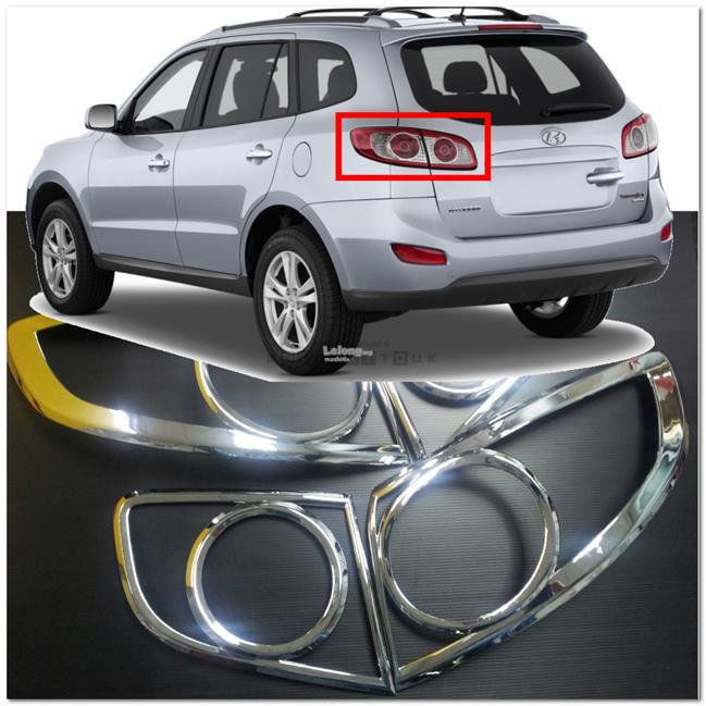 [8754] For Hyundai Santa Fe 07~12 Chrome Tail Light Trim Rear Lamp Rim