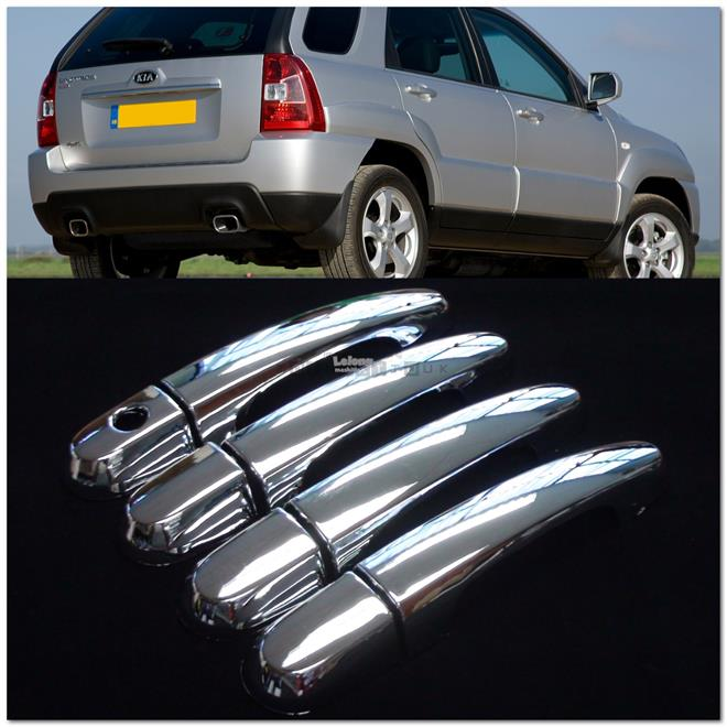 [8767] For Kia Sportage Chrome Door Handle Shell Cup Bowl Inserts Cove