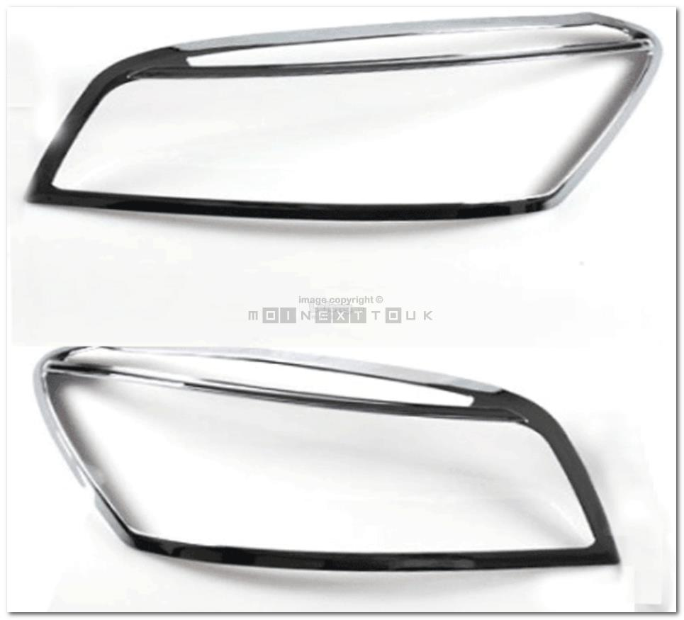 [8806] For Toyota Rav4 06~12 Chrome Head Light Trim Front Lamp Rim Cov