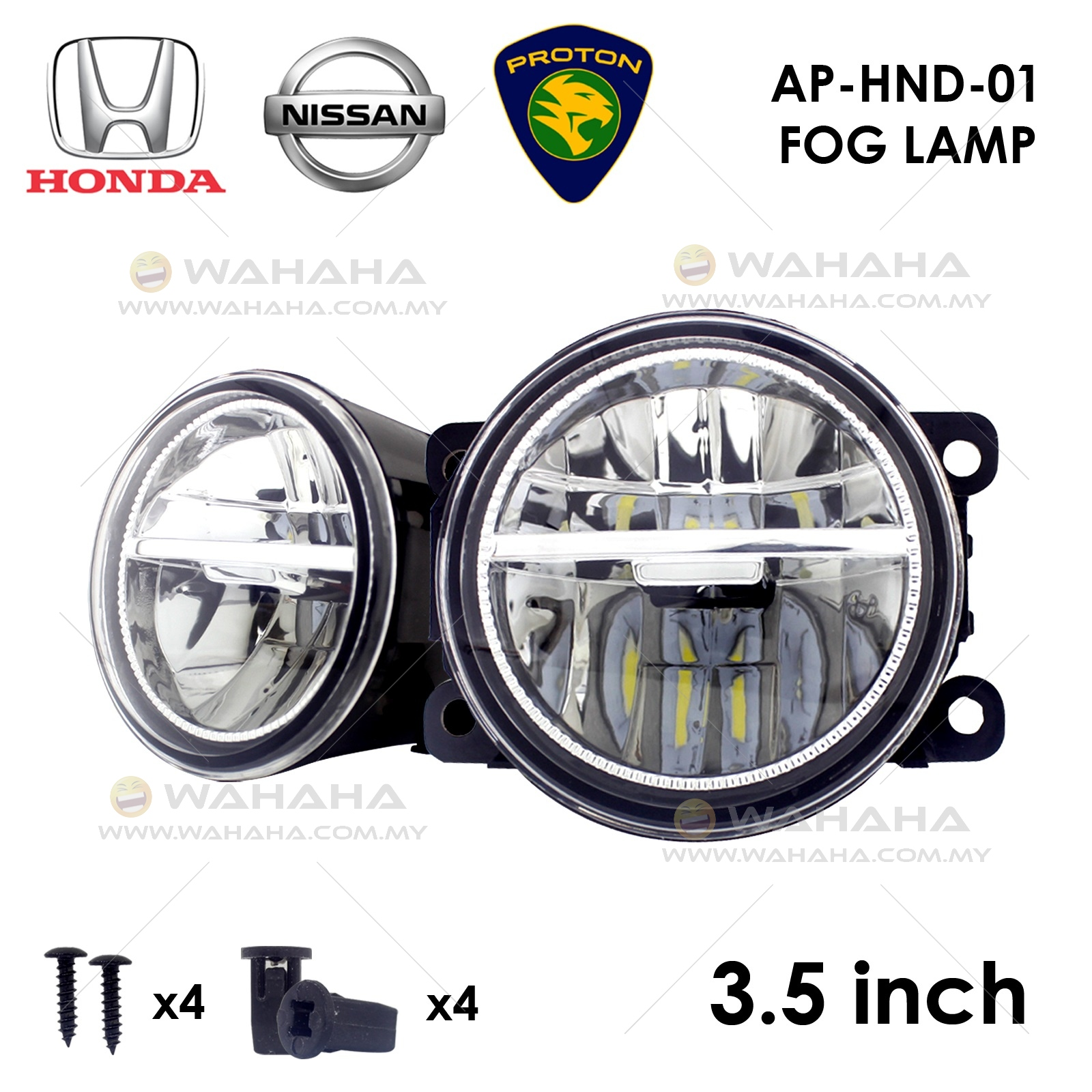 89mm 35 Led Sportlight Fog Lamp End 2 27 2021 1200 Am Wiring Lampu Tl X 1 Pair For Honda Nissan Proton