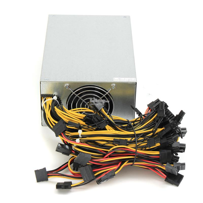8CPU 2200W Mining Machine Miner Mining Power Supply 90 Gold For Antmin