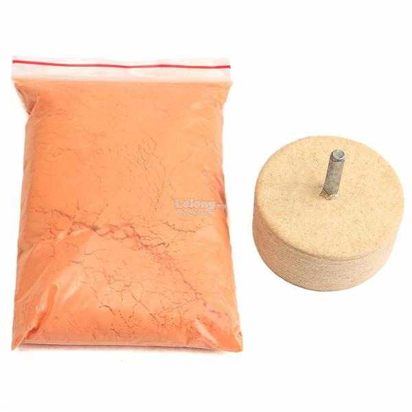 8Oz 230g Cerium Oxide Polishing Powder with 2 Inch Felt Polishing Whee