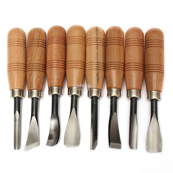 8pcs WOODPECKER Graver Woodworking Knife Chisel Wood Carving Hand Tool